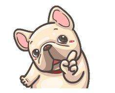 Bulldog Gif, Bulldog Drawing, Animated Emojis, Animated Gif, Cartoon Gifs, Cute Cartoon, Cute Love Gif, Cute Kawaii Drawings, Cute Icons