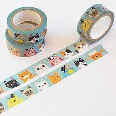 Poetic series cartoon washi tape|cute cartoon washi tape|journal Tape calendar deco planner decoration journals deco planner deco CH-TP-139