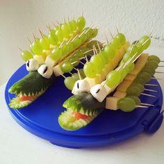 cucumber crocodiles | vegetarian + fun #party #food