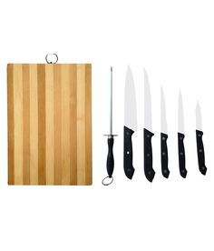 Knife & you work together for the delicacies!  Ezzi Deals Set Of 5 Knives, 1 Knife Sharpener / Filer And 1 Brown Chopping Board (7 Pcs), http://www.snapdeal.com/product/ezzi-deals-set-of-5/1004205584