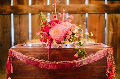 peony centerpiece #watters #wedding #coral www.pinterest.com/wattersdesigns/