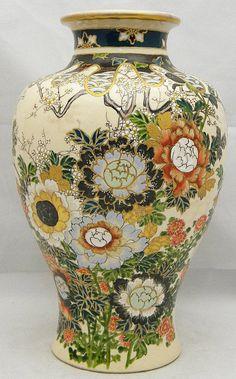 Decals For Porcelain China Japanese Vase, Japanese Porcelain, Japanese Ceramics, Japanese Pottery, Glass Ceramic, Ceramic Art, Pottery Vase, Ceramic Pottery, Satsuma Vase