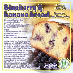 Healthy Meal Prep, Healthy Eating, Healthy Recipes, Healthy Food, Easy Recipes, Clean Eating, Blueberry Banana Bread, Banting Recipes, Diet Inspiration