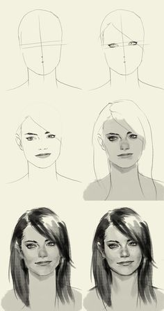 sketching Emma Stone - because she looks like my sister and now I can do her portrait