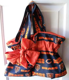 Football Purse made from Chicago Bears by kristinaprattdesigns, $35.00