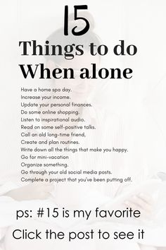 Feeling lonely and wondering what to do? Check this These fun list activities of Productive Things To Do, Things To Do At Home, Fun Things, Things To Do When Bored, Things To Do Alone, Stupid Things, Affirmations, Self Improvement Quotes, Alone Time