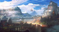 Sky Kingdom by whatzitoya http://whatzitoya.deviantart.com/art/Sky-Kingdom-400838819