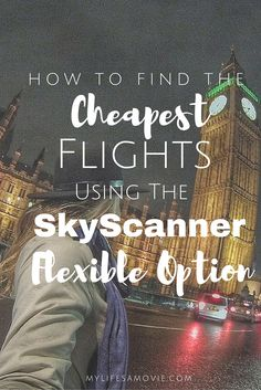 """Learn how I used SkyScanner's """"flexible"""" option to find flights from LA to 4 European countries and back for under $450! I even use this technique for choosing where I travel to next! It's based on where the cheapest flights are to from where I am!"""