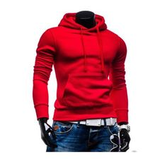 Cozy Men's Fall Winter Casual Fashion Solid Color Front Pocket Slim Hoodies - NewChic