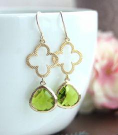 Four Leaf Clover Earrings. Clover Wedding Ideas. Bridesmaids Gift | By Marolsha.