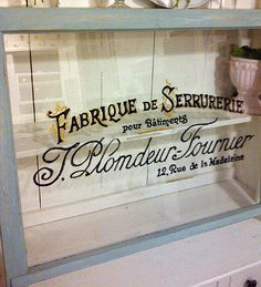 Turn an old Window into a Painted French Sign!