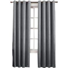 Sun Zero™ Emory Crushed Room-Darkening Grommet-Top Curtain Panel (325 SEK) ❤ liked on Polyvore featuring home, home decor, window treatments, curtains, winter curtains, grommet window treatments, grommet window panels, room darkening curtains and textured curtains