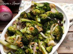 Broccolo e cipolla rossa: un piatto leggero e salutare; perfetto per chi deve tenere sotto controllo le calorie, ma non vuole rinunciare al gusto.