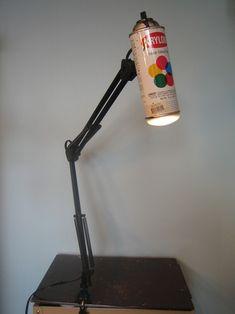 spray paint desk lamp idea