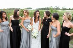 Love the bridesmaid dresses!!    Photography by troygrover.com, Wedding Planning by brookekeegan.com, Floral Design   Decor by flowersannettegomez.com