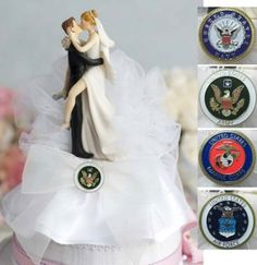 Military Cake Toppers Sexy(Air Force; Navy; Army; Marines), Wedding Cake Toppers, Bridal Hair Accessories, Wedding Supplies #1 Wedding Shop