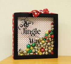Jingle All the Way Shadowbox DIY #Christmas