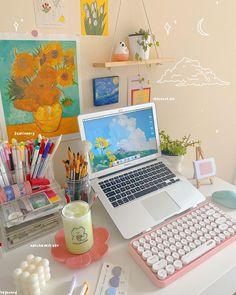 Desk Inspo, Desk Inspiration, Study Room Decor, Cute Room Decor, Desk Setup, Room Setup, Cute Desk, Aesthetic Room Decor, Aesthetic Girl