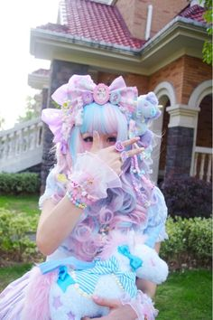 ImageFind images and videos about cute, kawaii and pastel on We Heart It - the app to get lost in what you love. Estilo Harajuku, Harajuku Mode, Harajuku Girls, Harajuku Fashion, Pastel Goth Fashion, Kawaii Fashion, Lolita Fashion, Cute Fashion, Tokyo Street Fashion
