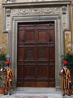 Sistine chapel doors - closed for Papal conclave.
