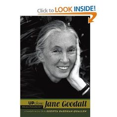 jane goodall up close 208 PAGES Grade 6–9—This comprehensive account of Goodall's life and work among the chimpanzees of the Gombe Preserve in Africa will find interest with students who are interested in subjects such as primatology, environmental preservation, animal behavior, and women's studies. Goodall's career path, professional interactions, and research methods are detailed, and her personal life, loves, affairs, and family relationships are described. .CHECK IT OUT TODAY IN THE HMS…
