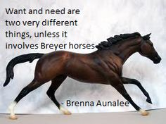 I love Breyer horses...still collecting them. This is Cigar the thoroughbred. I saw him in person at the KY Horse Park a couple years before he died. He was stunning. I recently bought the Breyer horse based off of him. (Shown)