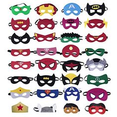 32 Pieces Superhero Masks,Superhero Party Supplies,Party Favors Half Masks for Children or Boys Aged 3  * Check this awesome product by going to the link at the image.(It is Amazon affiliate link) #unitedstates