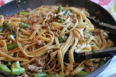 Pork Lo Mein..this lo mein sauce is awesome!  then add stir fry vegetables too, havent tired it with the pork yet