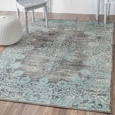 Damone Blue Area Rug