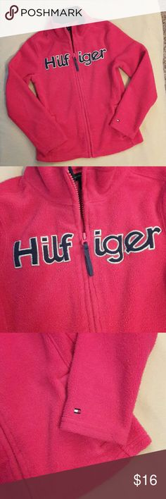 TOMMY HILFIGER SWEATSHIRT/ JACKET Like new. Fleece SWEATSHIRT or JACKET. PINK. Soft and adorable. Size 8/10 Tommy Hilfiger Shirts & Tops Sweatshirts & Hoodies