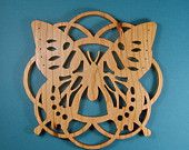Butterfly Trivet (21) Cherry Wood Cut On Scroll Saw