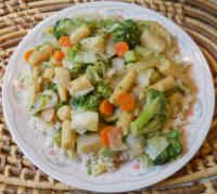 Broccoli, Cabbage, Corn, Onions Stir-Fry (Chinese Style): An All Creatures Vegetarian Vegan Recipe