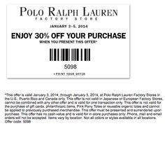 Ralph Lauren Coupon Code Outlet