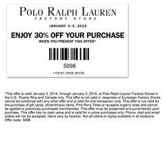 30% Off at Polo Ralph Lauren