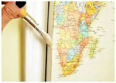 decoupage using maps - Google Search