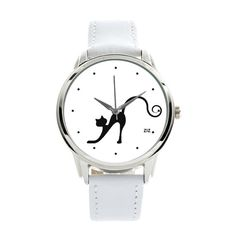 Black Cat Watch  Wristwatch Black / Creative Watch by ZIZWatches, €45.00