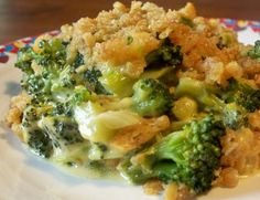 Cheesy Broccoli Casserole With Frozen Broccoli, Butter, Velveeta, Ritz Crackers, Worcestershire Sauce Cheesy Broccoli Casserole, Vegetable Casserole, Noodle Casserole, Brocolli Recipes, Vegetable Recipes, Ritz Crackers, Cooking Recipes, Healthy Recipes, Vegetable Dishes