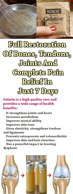 Full Restoration Of Bones, Tendons, Joints And Complete Pain Relief In Just 7 Days