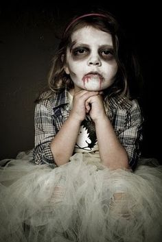 Little girl zombie face