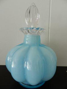 Glass Blue Perfume Bottle