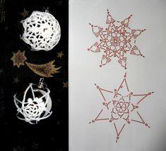 Crochet Snowflake Pattern, Crochet Snowflakes, Christmas Snowflakes, Crochet Doilies, Crochet Ball, Crochet Doll Dress, Christmas Baubles, Christmas Crafts, Crochet Christmas