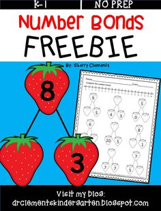FREEBIE Number Bonds - Students complete the number bonds with missing sums and missing addends - kindergarten, first grade - math centers Math Classroom, Kindergarten Math, Teaching Math, Future Classroom, Classroom Ideas, Math Resources, Math Activities, Math Games, Engage Ny Math