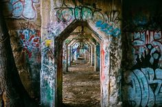 Graffiti, arch, corridor and urban HD photo by Ashim D'Silva ( on Unsplash Graffiti Paris, Grafitti Street, Graffiti Wall, Philadelphia Eagles Pictures, Unique Wall Art, Abandoned Buildings, Abandoned Places, Best Location, Urban Decay