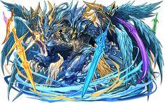 Murako - Split Ult Sherias and Roots Fantasy Monster, Monster Art, Dark Fantasy Art, Fantasy Artwork, Fantasy Character Design, Character Art, Puzzles And Dragons, Digimon Wallpaper, Fantasy Beasts