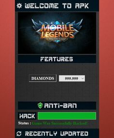 Mobile Legends Hack Unlimited Diamonds Mod Apk Take The Benefit Of Being A Mvp On All Amusement Download Mobile Leg Mobile Legends Game Cheats Android Hacks