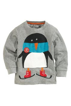 Buy Long Sleeve Penguin Top (3mths-6yrs) from the Next UK online shop