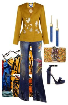 """Friday Cool"" by easy-dressing ❤ liked on Polyvore featuring GEDEBE, Dolce&Gabbana, Brock Collection, Susan Shaw, Mateo, Shoe Republic LA, brights, blazer, jeans and polyvoreeditorial"