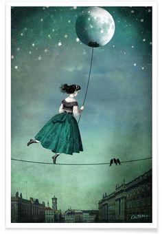 Moonwalk als Premium Poster von Catrin Welz-Stein | JUNIQE