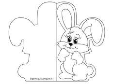 Biglietto auguri di Pasqua con coniglio