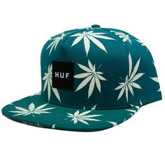 559664a2da1 Huf Plantlife Glow In The Dark Snapback Hat (Jade)  35.95